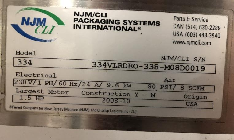 New Jersey Machine Pressure Sensitive Labeler d