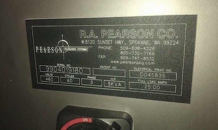 RA PEARSON Automatic Case Sealer f