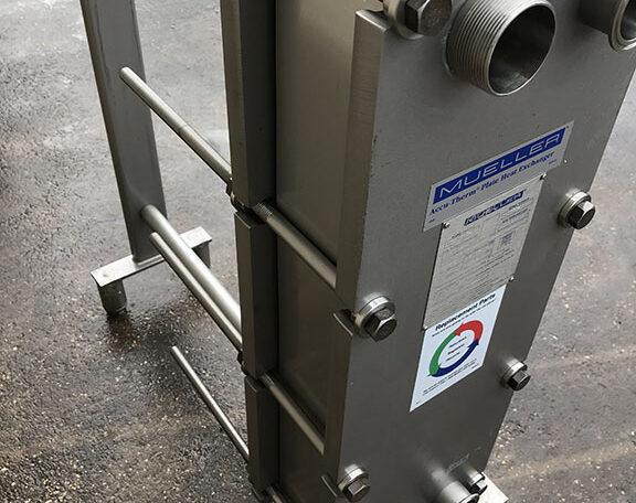 Mueller AT10 SS Plate Frame Heat Exchanger c
