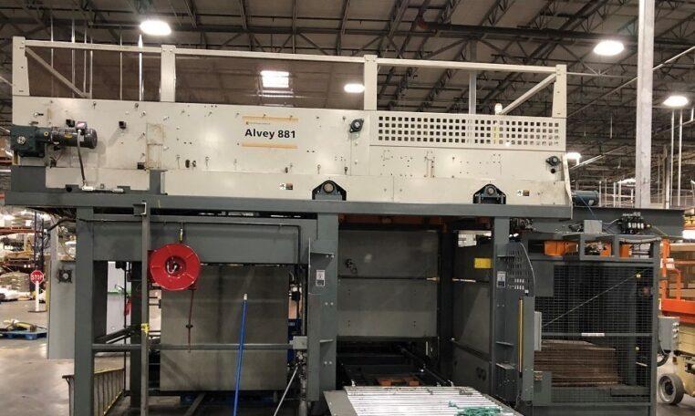 Alvey 881 High Speed Palletizer with Slip Sheet Inserter, Serial #01-KD149118 (01)