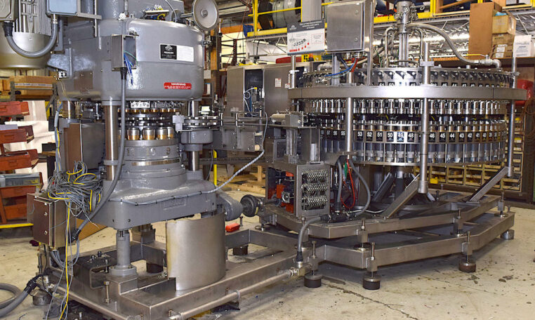 Crown Bevcorp 72v Can Filler Angelus 120L Seamer