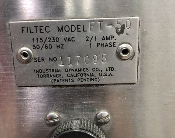 Filtec FT-50 Fill Level Inspection Serial 117095 (6)